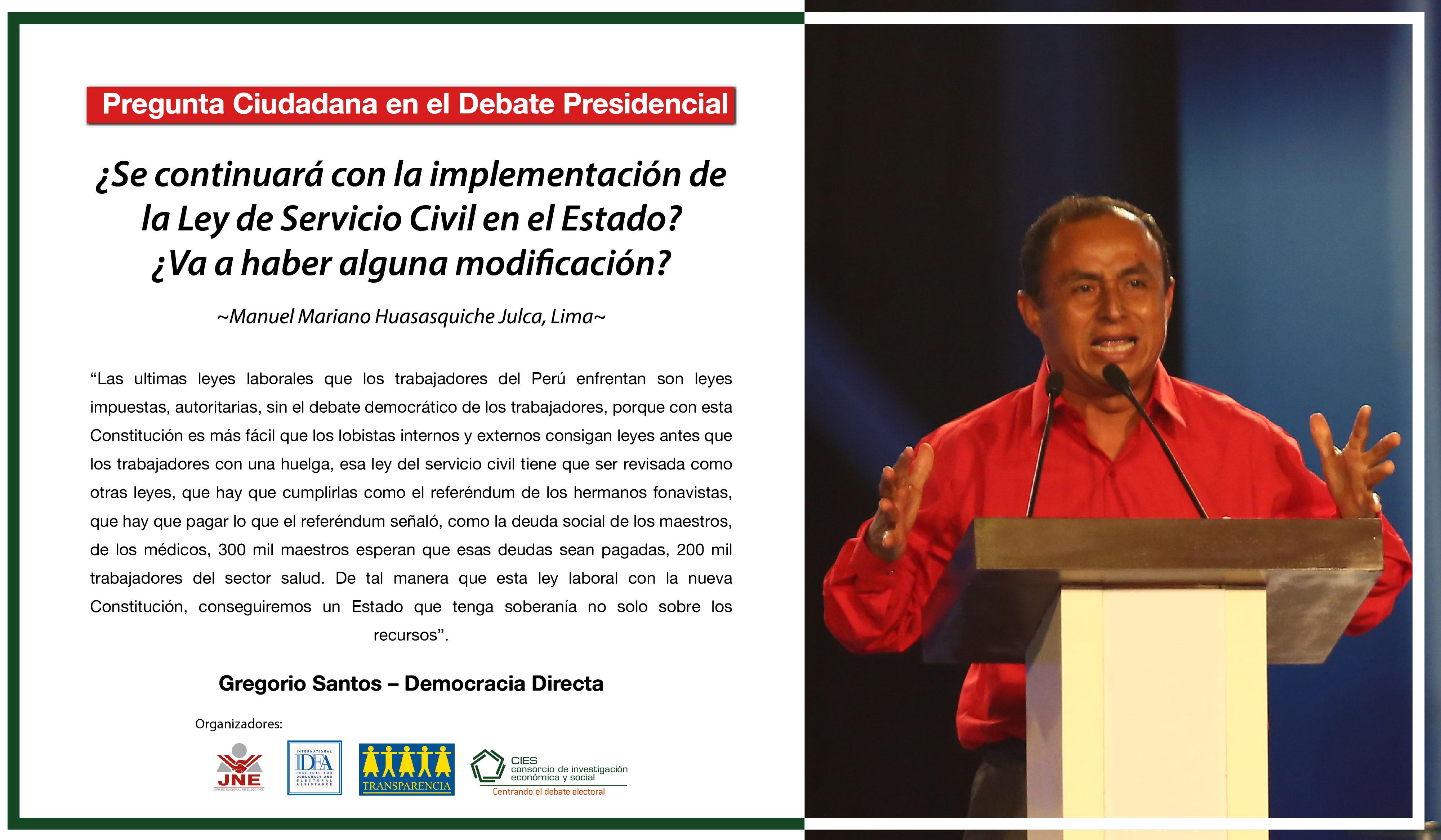 Respuestas a campaña #PreguntaleatuCandidato - Primera vuelta
