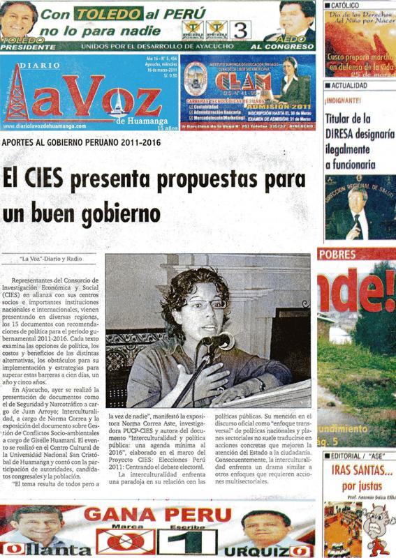 """Regional - DIARIO """"LA VOZ"""" DE HUAMANGA"""