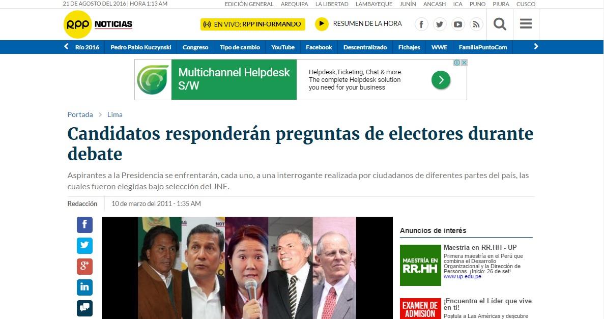 CUARTA EDICIÓN DE LA ROTATIVA DEL AIRE (RPP NOTICIAS)
