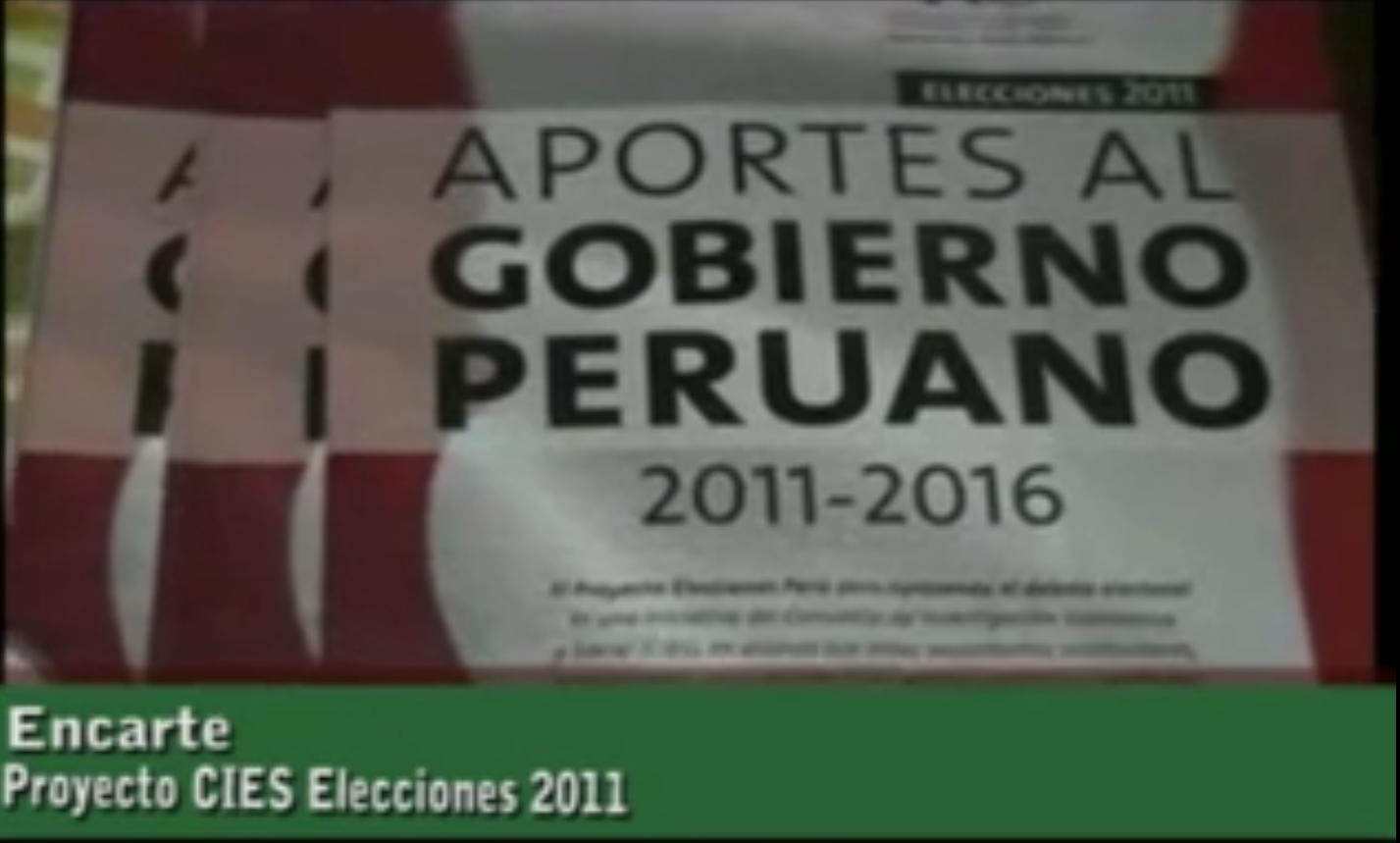 Proyecto CIES Elecciones presidenciales 2011 - 2016: centrando el debate electoral