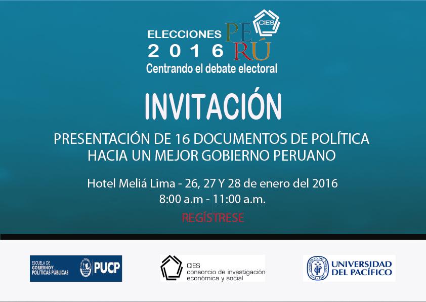 Presentación 16 documentos de política Proyecto Elecciones