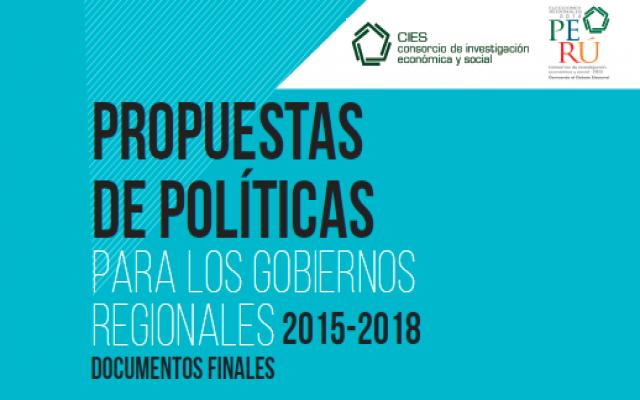 Documentos finales para los gobiernos regionales 2015-2018
