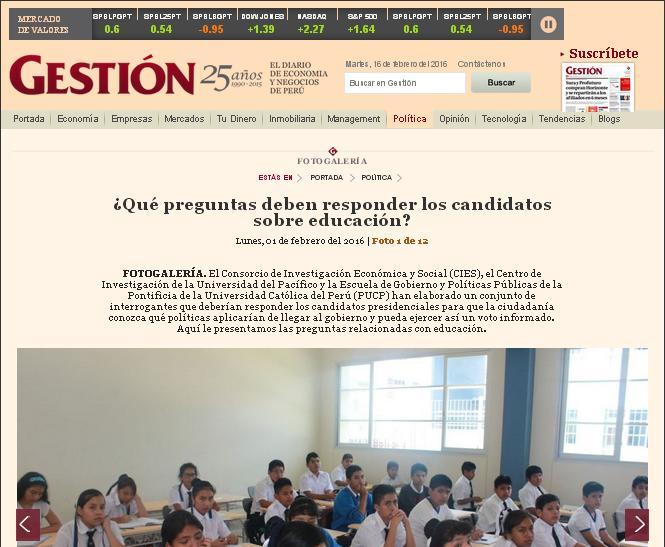 ¿Qué preguntas deben responder los candidatos sobre educación?