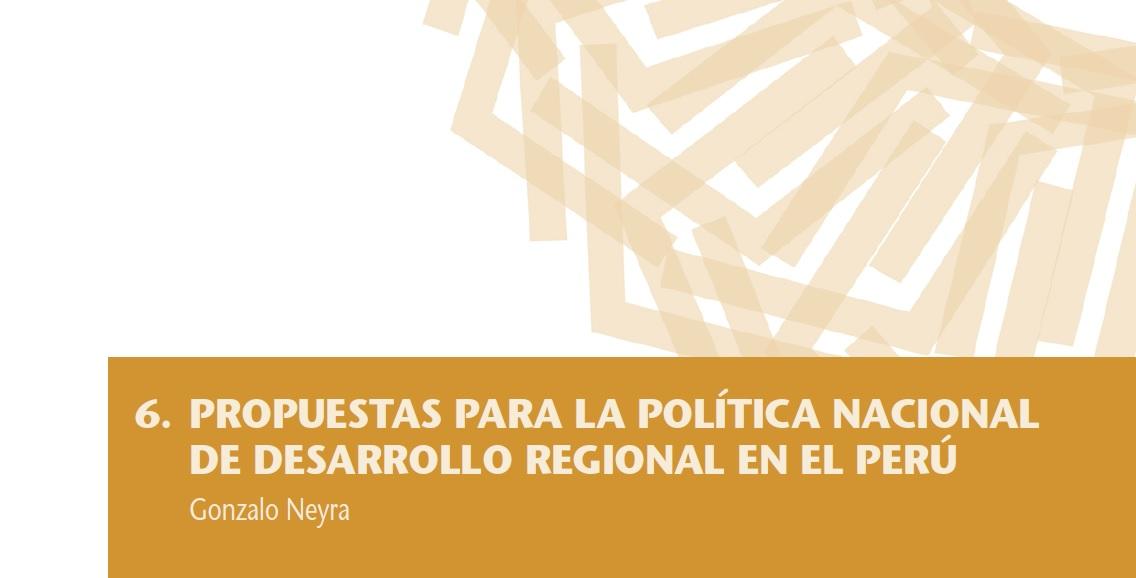 Políticas de descentralización económica y desarrollo regional